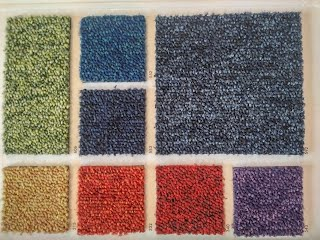 Bright colours carpet tiles